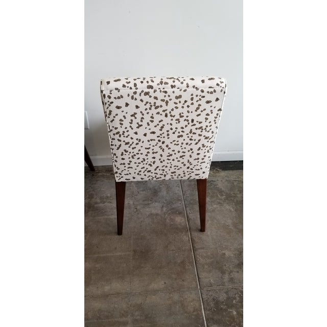 Mid 20th Century Hollywood at Home Double Dotty Upholstered Dining Chairs- Set of 4 For Sale - Image 5 of 6