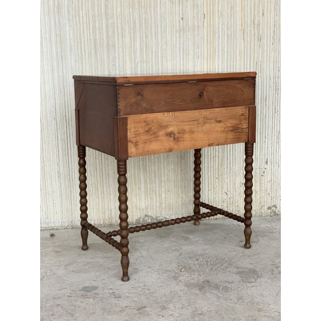 19th Rosewood Art Deco Open Up Vanity or Secretary Desk. Dressing Table For Sale In Miami - Image 6 of 11