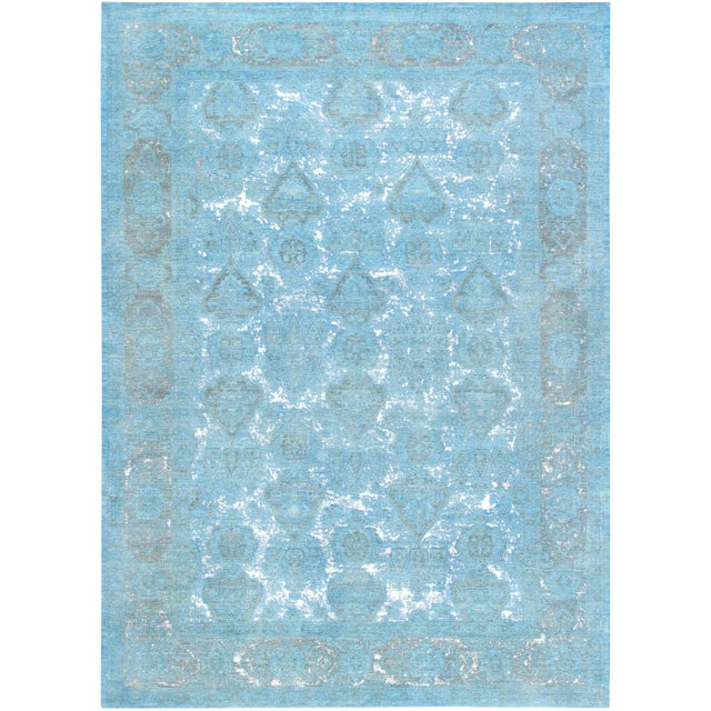 """Pasargad Overdye Wool Area Rug - 9'9"""" X 13'5"""" For Sale"""