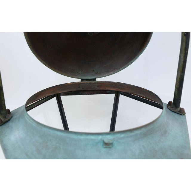 Transparent Large Copper French Lantern For Sale - Image 8 of 11