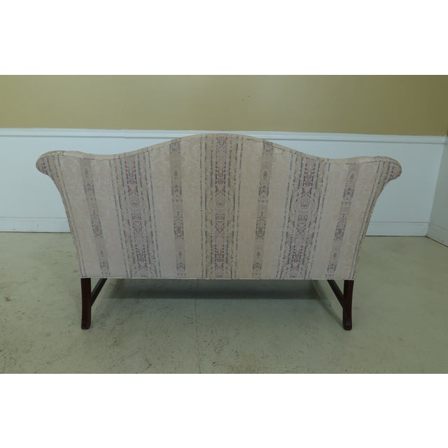 Wood Southwood Chippendale Mahogany Loveseat For Sale - Image 7 of 13