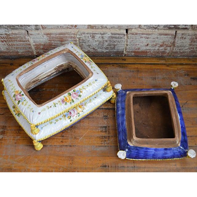 Vintage Faux Pouffe Terracotta Garden Seat - Image 10 of 11