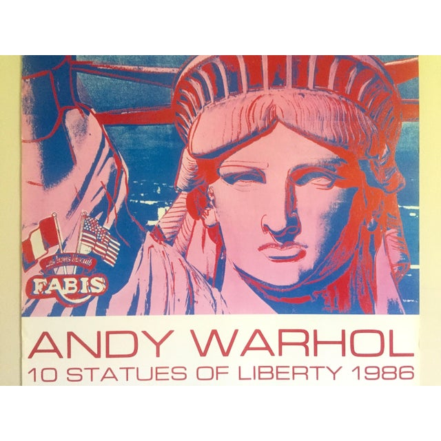 """Islamic Andy Warhol Rare 1986 Lithograph Print Paris Exhibition Poster """" 10 Statues of Liberty """" For Sale - Image 3 of 13"""