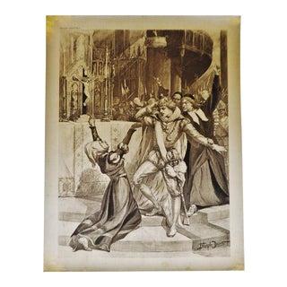 """1900 Antique Le Prophete """"The Prophet"""" Opera Photogravure by J Steeple Davis For Sale"""