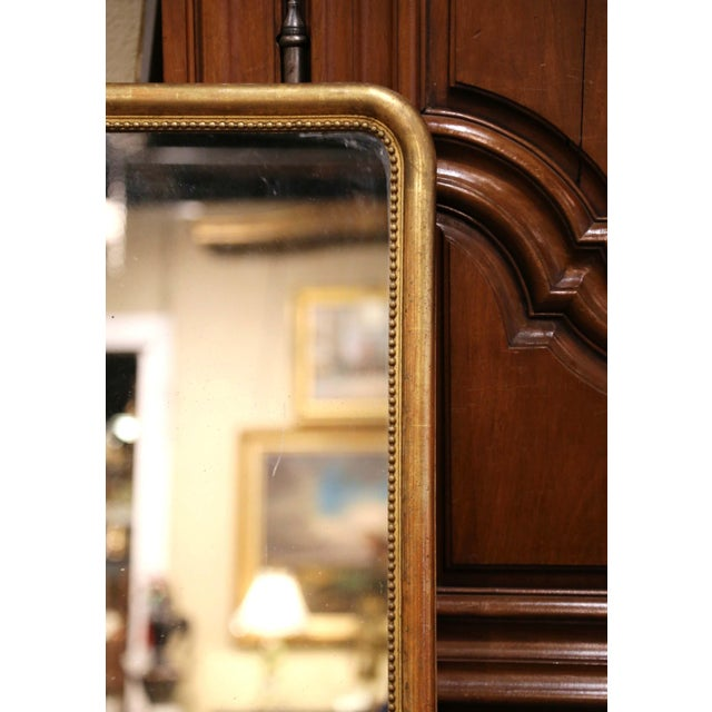 Mid 19th Century Mid-19th Century French Louis Philippe Giltwood Mirror With Mercury Glass For Sale - Image 5 of 11