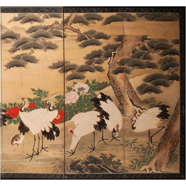 Asian Edo Era Monumental Japanese Six-Panel Byobu Screen For Sale - Image 3 of 13