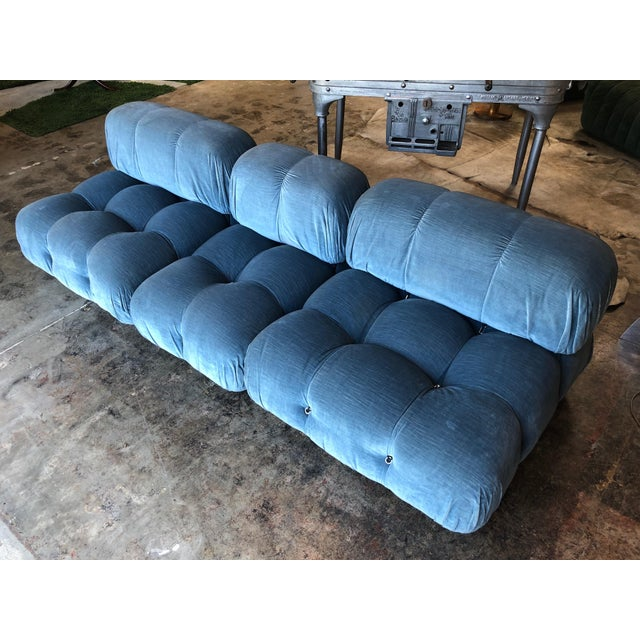Mario Bellini, modular 'Camaleonda' sofa in original grey fabric, Italy, 1972. This sofa consists out of modular elements....