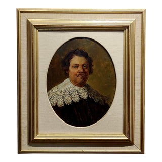 17th Century Portrait of Willem Burchgraeff-After Rembrandt-Oil Painting