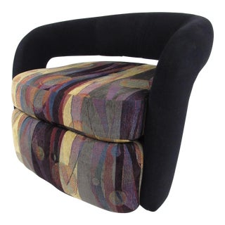Pair Modern Swivel Club Chairs by Weiman For Sale