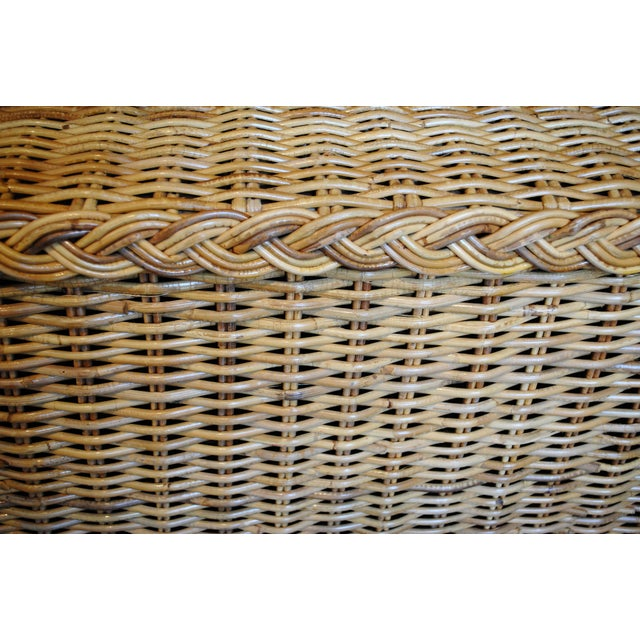 Vintage Rattan Coffee Table / Bench - Image 5 of 6