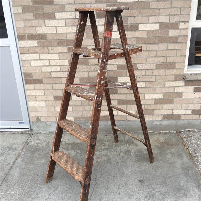 1950's Vintage Paint Splattered Painters Ladder - Image 5 of 7