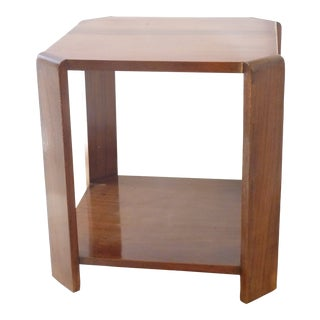 20th Century Art Deco Mahogany Side Table For Sale