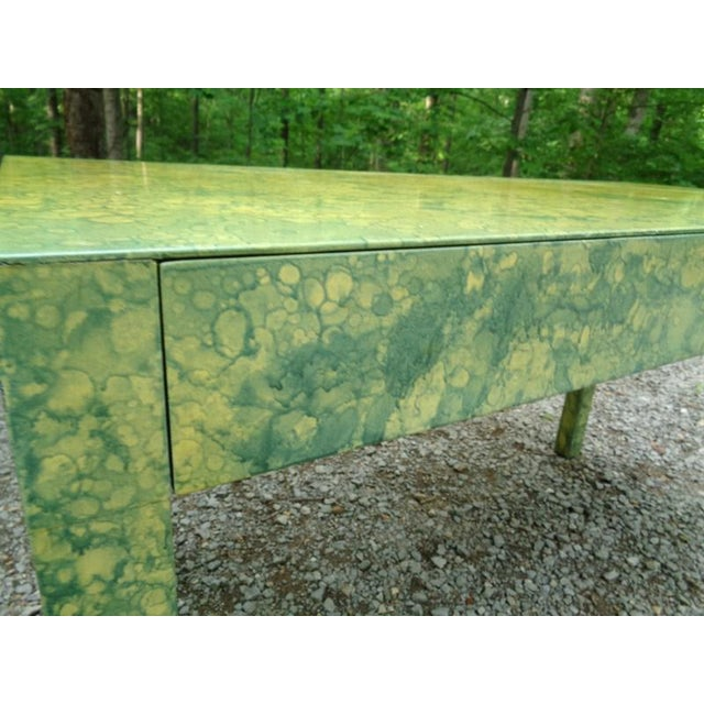 Mid 20th Century C.1967 Designer Raindrop Finish Vanity Desk Console Table For Sale - Image 5 of 13