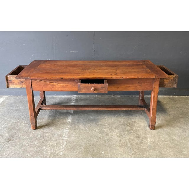1800's Primitive French Dining/Work Table/Console For Sale - Image 11 of 13