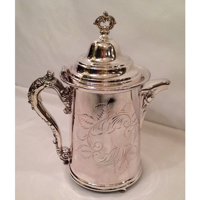 Vintage Silver Plate Footed Coffee Pot - Image 2 of 6