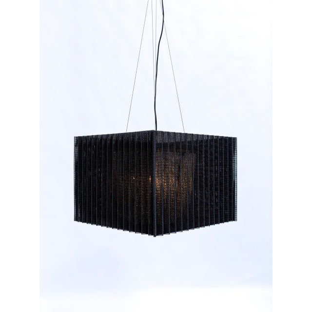 Contemporary Cube Caged Crystal Pendant For Sale - Image 3 of 13