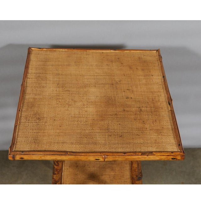 Late 19th Century Tiger Bamboo Table For Sale - Image 5 of 6
