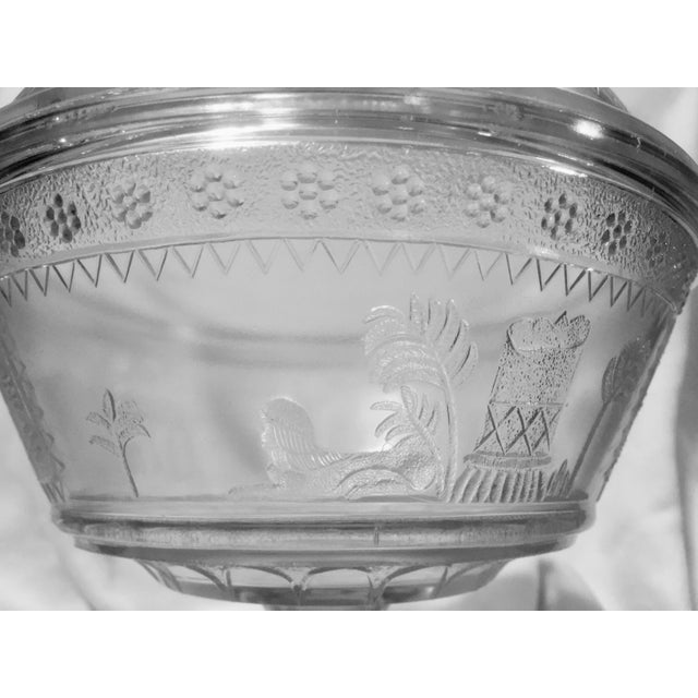 Adams Glass Egyptian Compote - Image 6 of 9