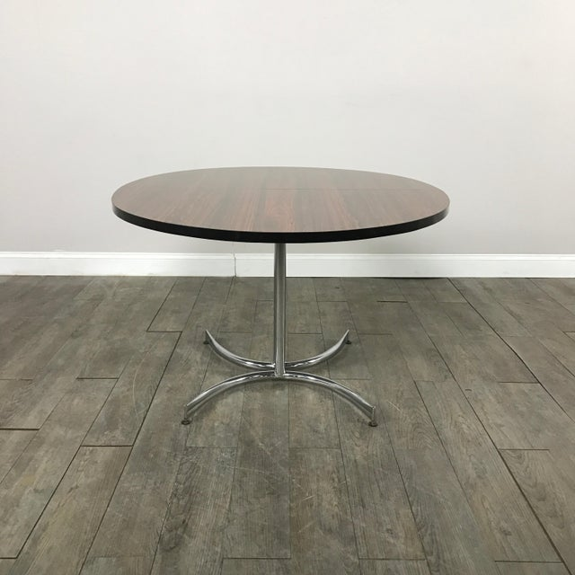 Milo Baughman Vintage Laminate Rosewood Dining Table - Image 9 of 10