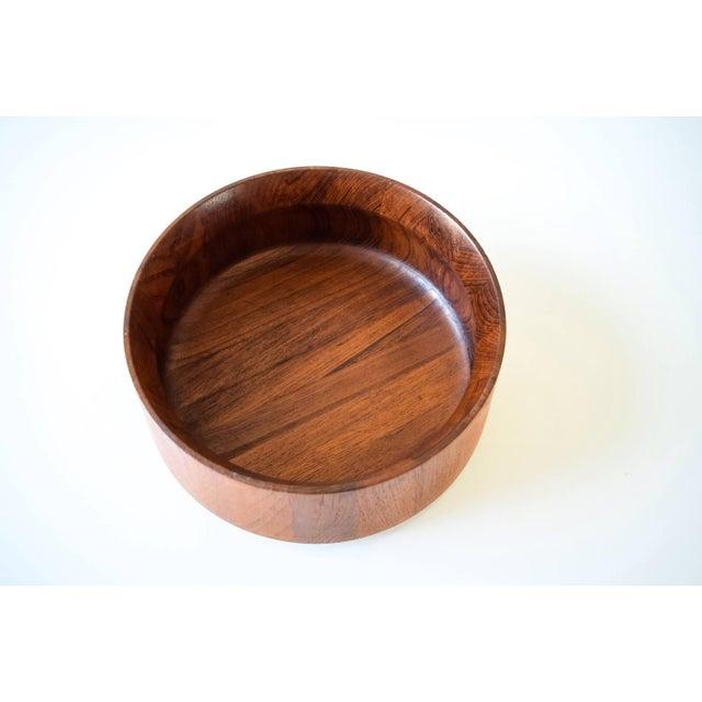 Dansk Large Danish Modern Wooden Dansk Teak Bowl For Sale - Image 4 of 6