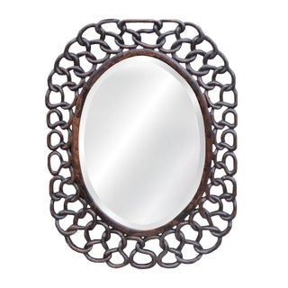 Antique Hand-Carved Wall Mirror For Sale