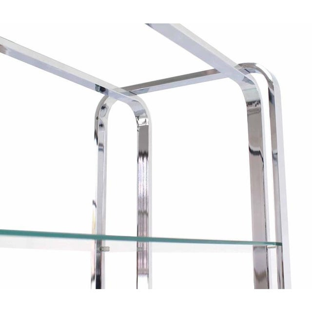 Mid-Century Modern Chrome and Glass Étagère For Sale - Image 4 of 7