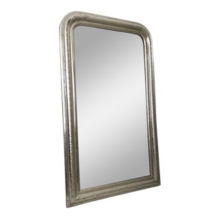 Antique French Louis Philippe Silver Gilt Mirror For Sale