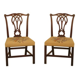 Kittinger Cw-16 Colonial Williamsburg Mahogany Side Chairs - a Pair