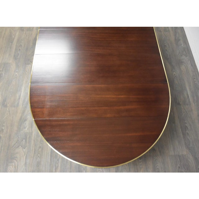 1960s Paul McCobb Mahogany and Brass Dining Table For Sale - Image 5 of 13