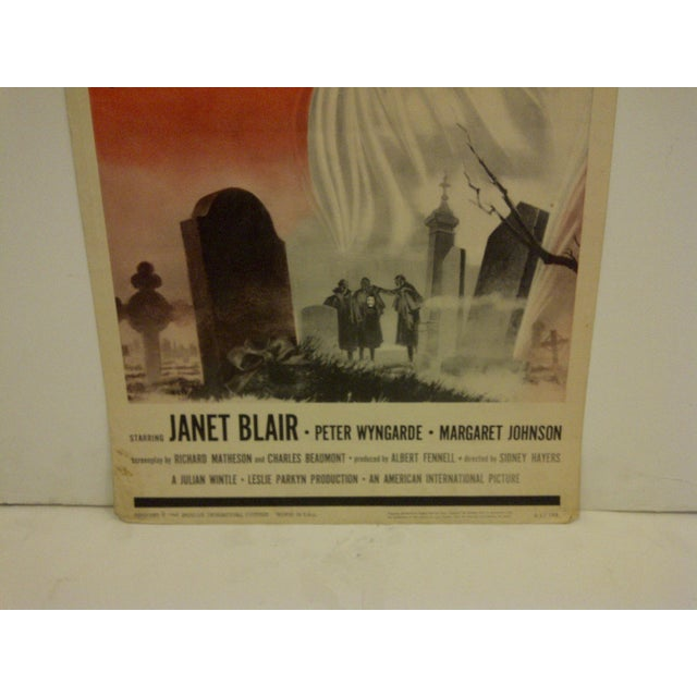 "Vintage Movie Poster ""Burn Witch Burn"" Janet Blair - 1962 For Sale - Image 5 of 6"