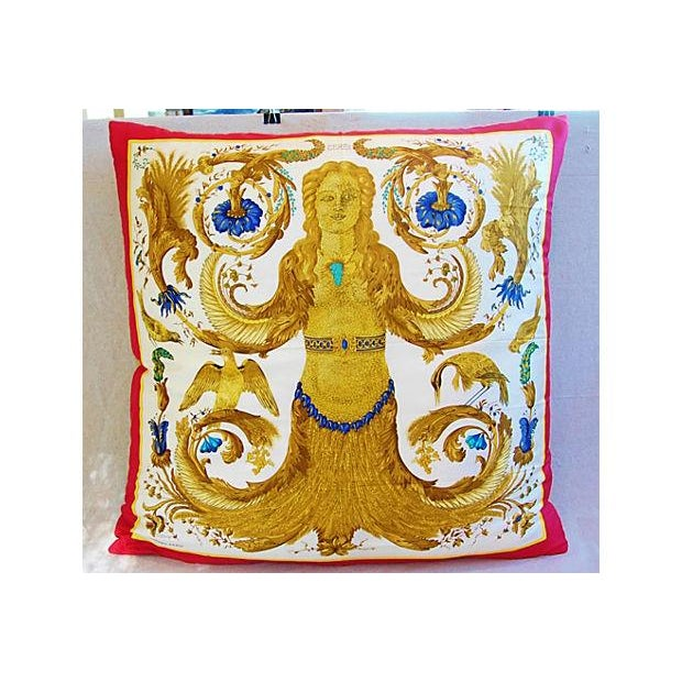 Custom Hermes Ceres Mermaid Silk Pillow Cushion - Image 2 of 8