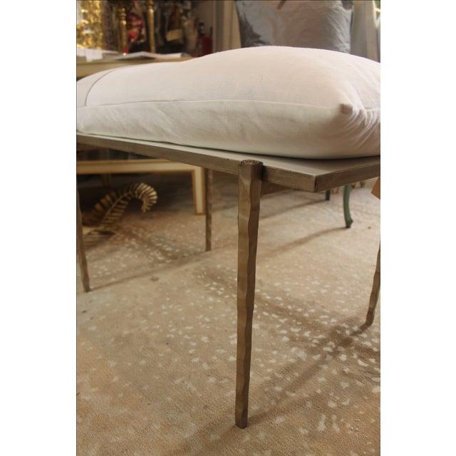 Handmade Steel Pillow Bench - Image 4 of 7