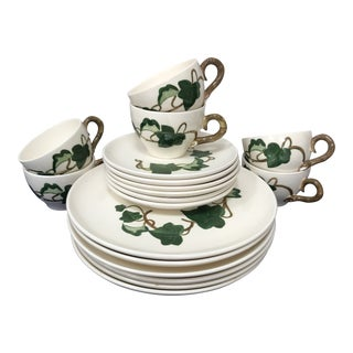 Vintage Metlox California Ivy Poppytrail Vernon Dinnerware - Set of 18 For Sale