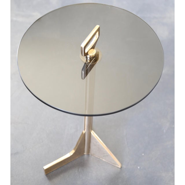 Modern Costantini Bellance Bronze and Glass Cigarette Table For Sale In New York - Image 6 of 7
