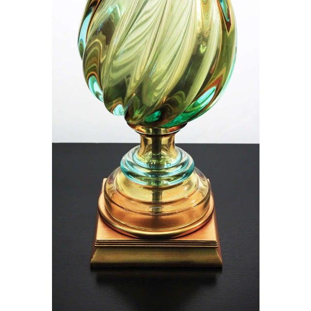 Italian Vintage 1960's Seguso Murano Italian Glass Lamp by Marbro For Sale - Image 3 of 5