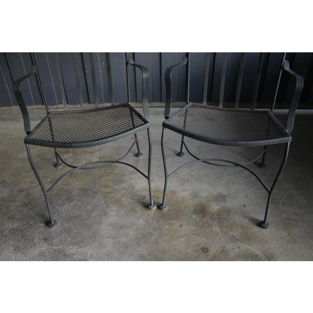 Boho Chic Salterini Style Patio Chairs, a Pair For Sale - Image 3 of 5
