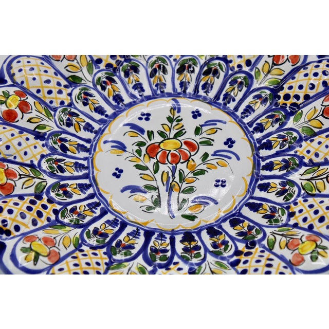 French Country Ceramic Large Plate For Sale - Image 10 of 12