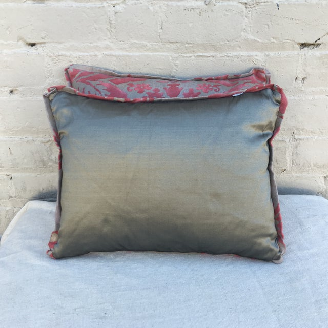Fortuny Pink & Gold Pillows - A Pair - Image 5 of 5