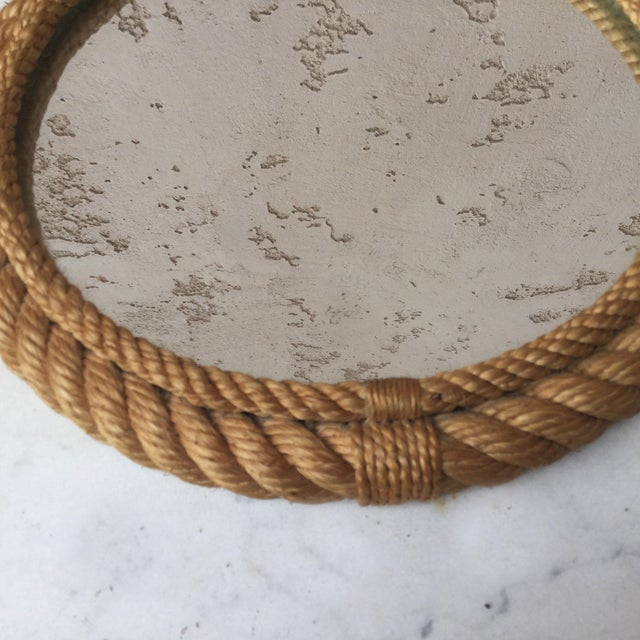 Nautical 1960s Vintage Audoux Minet Round Rope Mirror For Sale - Image 3 of 6