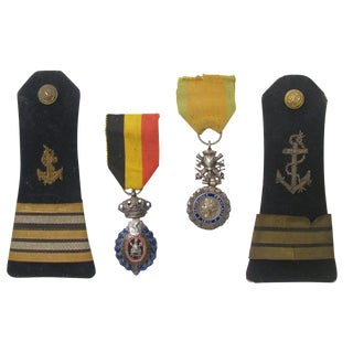 French & Belgian Military Medals, S/4 For Sale
