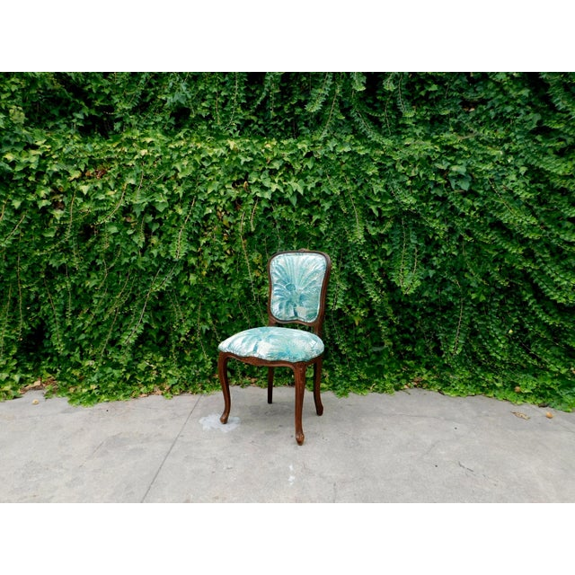 Green Italian Carved Wood Botanical Accent Chair For Sale - Image 8 of 10