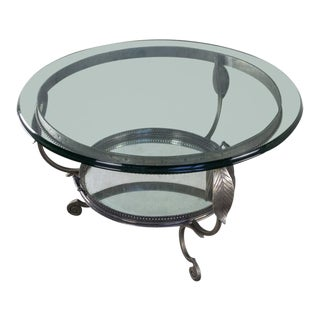 Unusual Vintage Coffee Table With Tray For Sale