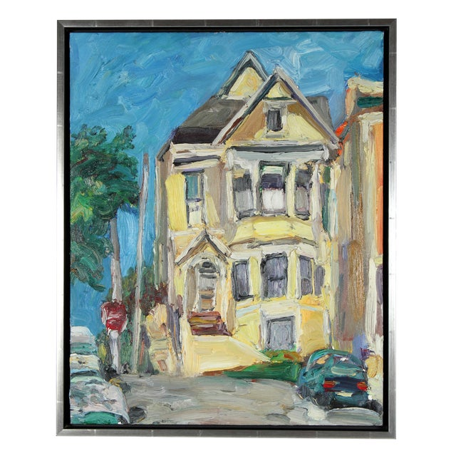Jack Freeman San Francisco Victorian Oil Painting - Image 1 of 2