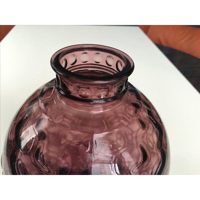 Amethyst Purple Mid-Century Lidded Vase - Image 6 of 6