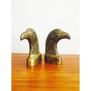Vintage Brass Eagle Bookends - a Pair Preview