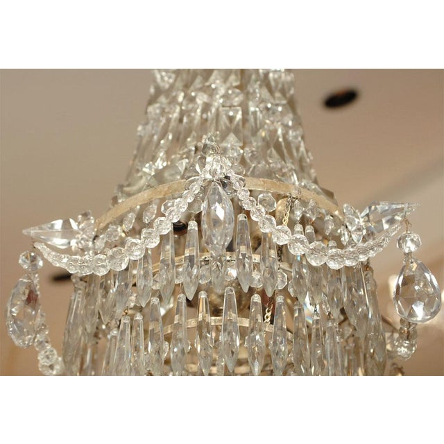 Crystal 1900s Crystal Chandelier For Sale - Image 7 of 7