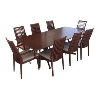 20th Century Scandinavian Dining Set - 9 Pieces For Sale