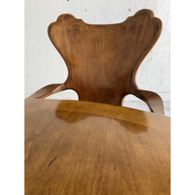 Contemporary Century for Robb & Stucky Burled Walnut 'Gaudí' Style Dining Set - 5 Pieces For Sale - Image 3 of 11