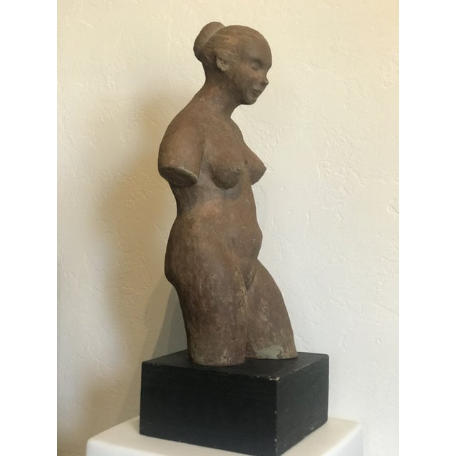Mid-Century Modern Nude Woman Terracota Sculpture For Sale - Image 3 of 7