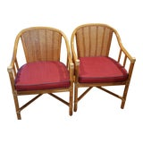 Image of 1970s McGuire Bamboo Chairs-a Pair For Sale